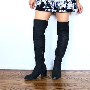 Sam Edelman Joplin Blk Leather Over The Knee Boots